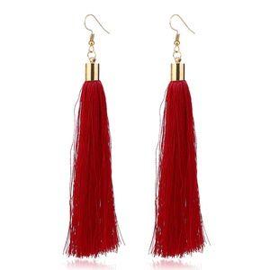 Jewelry - NEW boho red tassel earrings